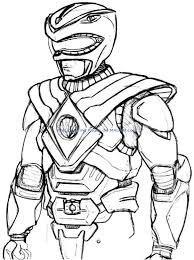 Christmas Power Rangers Coloring Pages Printable Coloring Page For