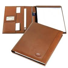 personalized leather portfolio with zipper folio saddle personalized leather portfolio