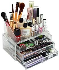 glambox crystal clear makeup organiser helps you look a million dollars and saves you money