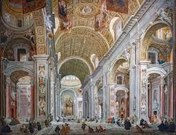 File:Ca' Rezzonico - Interno della basilica di San Pietro a Roma -  Giampaolo Pannini.jpg - Wikimedia Commons