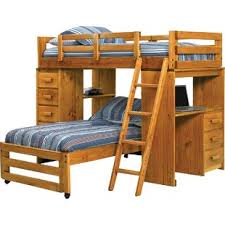 wood bunk bed with desk. Twin L-Shaped Bunk Bed Wood With Desk