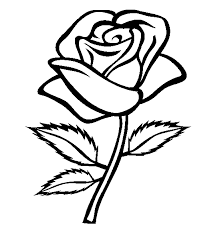 Small Picture Printable Roses to Color Rose and Heart Drawing Printable