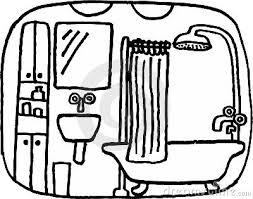 bathroom clipart black and white. Fine Bathroom Bathroom Clipart Black And White R