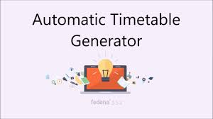 Schedule Table Maker Fedena Automatic Timetable Generator