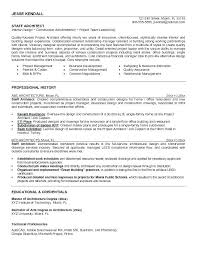Architect Resume Example Architect Resume Samples Senior Architect