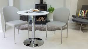round white gloss 2 seater dining table pedestal base uk