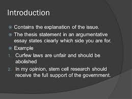 argumentative essay ppt 4 introduction