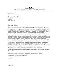 Pharmaceutical Cover Letter Sample