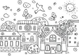 Welcome Spring Coloring Pages Printable Flowers Kindergarten Art