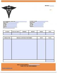 Medical Invoice Pdf Medical Bill Formate Free Medical Invoice Template Excel Pdf Word
