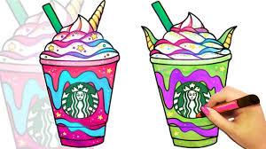 How To Draw A Starbucks Unicorn Frappuccino And Dragon Frappuccino