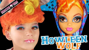 howleen wolf monster high doll costume makeup tutorial for cosplay or ha