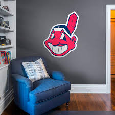 cleveland indians alternate logo giant officially licensed mlb removable wall decal fathead on cleveland sports teams wall art with cleveland indians fathead wall decals more shop mlb fathead