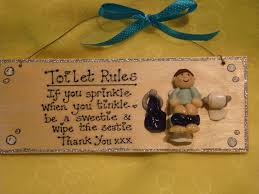 if you sprinkle when you tinkle bathroom en suite cloakroom toilet rules wooden personalised sign plaque any phrasing handmade unique shabby chic