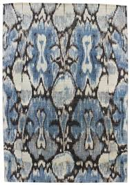 blue black abstract ikat rug for interesting dining room floor decoration