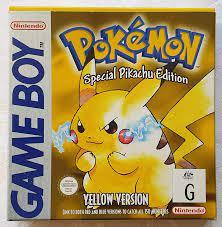 Amazon.com: Pokemon: Yellow Version - Special Pikachu Edition : Nintendo Game  Boy Color: Video Games