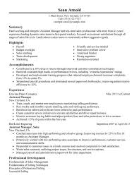 Assistant Manager Resume Cool Assistant Sales Manager Resume Examples Free To Try Today
