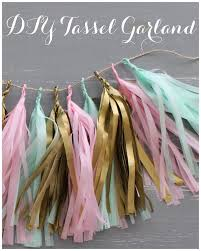 diy confetti system inspired tissue paper tassel garland linen lace love