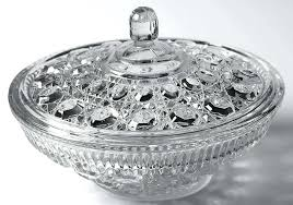 candy dish with lid candy dish with lid clear by federal glass carnival glass candy dish