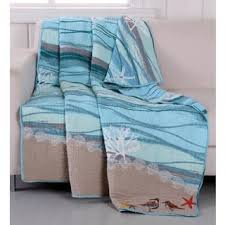 Quilted Throw Blankets For Less | Overstock.com & Greenland Home Fashions Maui Embroidered Cotton Throw Adamdwight.com
