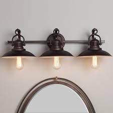 Black Farmhouse Bathroom Lighting Station Lantern Bath Light 3 Light Farmhouse Bathroom