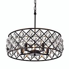 azha 5 light crystal drum chandelier ceiling fixture oil rubbed comfortable with regard to 19