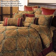 Temara Damask Leopard Print Comforter Bedding &  Adamdwight.com