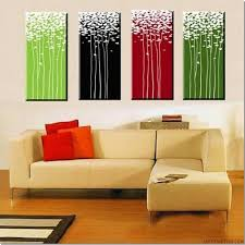 4 Piece Canvas Art Modern Art Hand Painted Oil Painting on Canvas Wall Art  Deco Home Decoration (Unstretch No Frame)