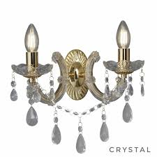 marie theresa classic crystal chandelier wall light polished brass home