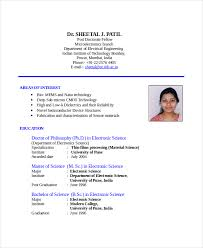 Standard Resume Format For It Engineers Resume Template Sample