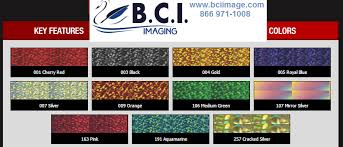 Fdc Color Chart Fdc Glitter Colors 9106 Thermal Advantage Heat Transfer Film Gold