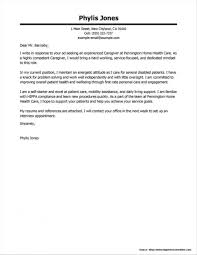 Resume Template Astonishing Cover Letter For Caregiver In New
