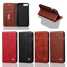 leather flip folio wallet cases for iphone 8 plus card holder kickstand money pouch slim fit protective back shell for iphone 7 plus cell phone cases