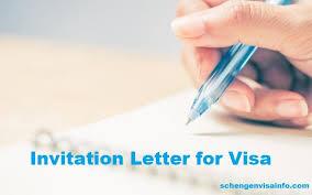 Invitation Letter For Schengen Visa Letter Of Invitation For Visa