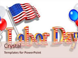 labor day theme powerpoint template the word labor day in form of american flag