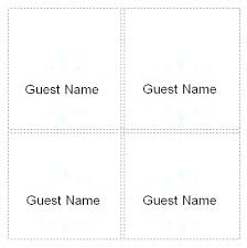 Wedding Name Tents For Meetings Place Card Template Cool