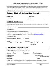 Recurring Payment Authorization Form 24 Printable Recurring Credit Card Authorization Form Templates