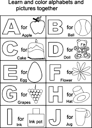 Preschool Alphabet Coloring Pages To Print