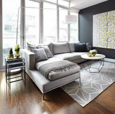 Sectional Sofas In Living Rooms Modern Minimalist Living Room With Hardwood Floor And Sectional