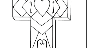 Cross Coloring Pages Printable Cross Coloring Pages Picture Free