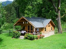 photo small wooden house tiny image model houses design