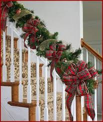 stairs decoration for Christmas