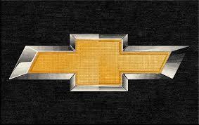 chevrolet logo. chevrolet bow tie custom rug logo