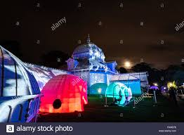 Holiday Lights At Sf Conservatory December 23 2018 San Francisco Ca Usa Outside View Of