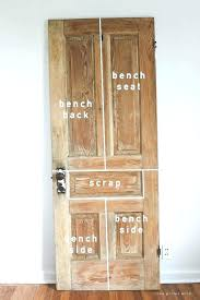 old door benches see how an wood transforms into a gorgeous rustic bench get entry storage mudroom bench and coat rack entry door storage