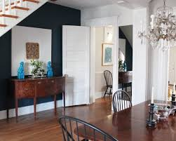 bathroom navy blue accent wall hanover avenue master bedroom dining room anne tollett interiors custom foo
