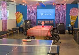 picnic office design. The ShowClix Office Lounge Has Ping Pong And Picnic Tables For Their Employees At Front Design