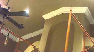 Arched Crown Moulding Vaulted Ceiling Crown Molding Job Youtube