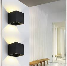 sconces wall lighting. Wall Lamp 6W Led Sconces Lights Adjustable Angle Cube Simple Modern Up IP67 Surface Lighting I