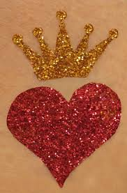 Image result for red heart with crown